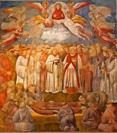 Giotto di Bondone ~ Death and Ascension of Saint Francis, Basilica di San Francesco, Upper Church, c.1296-1304
