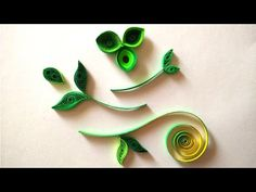 How To Make Quilled Leaves Using Paper Art Quilling - YouTube