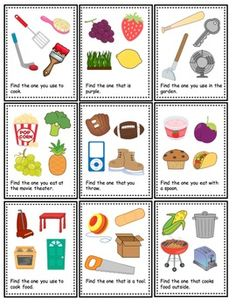 Feature and Function Task Cards by The Autism Helper Speech Therapy Worksheets, Preschool Speech Therapy, Speech Language Therapy, Speech Therapy Activities, Speech And Language, Preschool Curriculum, Speech Pathology, Homeschooling, Kindergarten