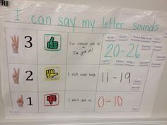 Kindergarten self assessment rubric. Enlarge on the poster maker and laminate to make it re-useable. Print student names and put them on magnets. The students can move as needed.