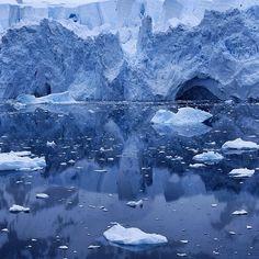 The Neko Bay glacier presents a brooding face on dark day in Antarctica. #antarctica #natgeo #nature #nikon #latergram - @jimrichardsonng- #webstagram