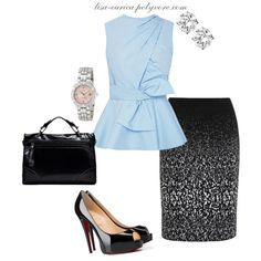 Untitled #250 by lisa-eurica on Polyvore featuring мода, Prabal Gurung, Christian Louboutin, GUESS and Dyrberg/Kern