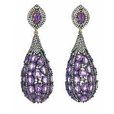#amethyst and #diamond drop earrings by @jhadleyjewelry @diamondgirl1975.
