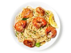 Get Shrimp and Scallop Scampi with Linguine Recipe from Food Network