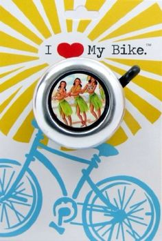 Hula Girl Bike Bell by BeachyToes on Etsy https://www.etsy.com/listing/96272493/hula-girl-bike-bell