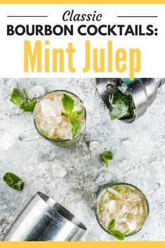 There are some classic bourbon cocktails that you Bourbon Mixed Drinks, Bourbon Cocktails, Whiskey Drinks, Cocktails To Try, Strawberry Mojito, Recipe Cover, Best Cocktail Recipes, Mint Recipes, Margarita Recipes
