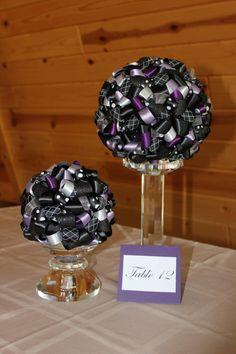 Ribbon Ball Centerpiece by ABHweddingcreations on Etsy, $25.00