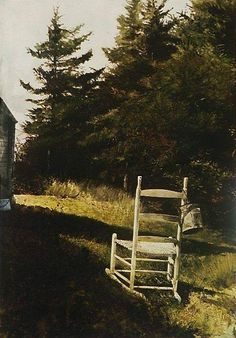 Andrew Wyeth ~ Lawn Chair drybrush and graphite on paper, 22 x 15 inches) Andrew Wyeth Art, Jamie Wyeth, Nc Wyeth, Stefan Zweig, Le Far West, Art For Art Sake, American Artists, American Realism, Artist Painting