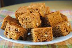 Őszi édesség fogyni vágyóknak: sütőtökös süti recept   Babafalva.hu Healthy Cake, Healthy Cookies, Cake Bars, Dairy Free, Clean Eating, Food And Drink, Pumpkin, Yummy Food, Sweets
