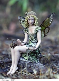 Pat's Mam  ~ Stephanie Blythe  Love the moss hair and clothes,  acorn cap hat and Cicada wings