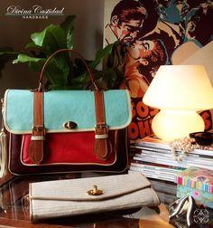 School Bag en pasteles by DCH www.divinacastidadhandbags.com