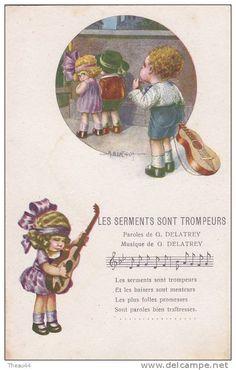 """¤¤  -  Illustrateur """" A. BERTIGLIA """"  -  Les Serments sont Trompeurs  -  ¤¤"""