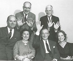 George Ketchum and some of his staff in 1961 (Ketchum Public Relations Archives)