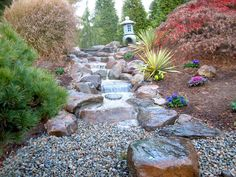 Waterfall created by The Pond Doctor in Warrenton,Va. #WaterfallWednesday