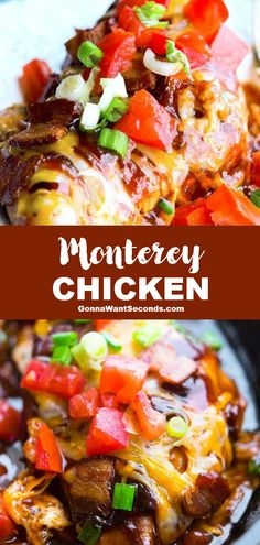 *NEW* Our tangy, sweet Monterey Chicken is a quick satisfying winner. And... the combination of bacon and BBQ sauce is oh so good! #ChickenRecipe #OnePotMeal #MontereyChicken Easy Chicken Recipes, Turkey Recipes, Mexican Food Recipes, Dinner Recipes, Chicken Meals, Dinner Ideas, Easy Chicken Dishes, Lunch Ideas, Lunch Recipes