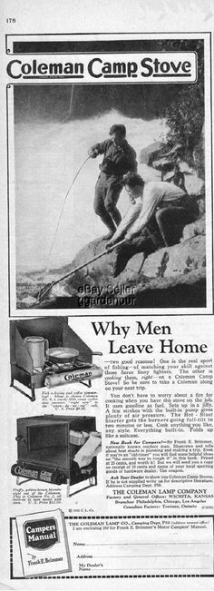 Coleman Camp Stove.  Why Men Leave Home #CampingStove