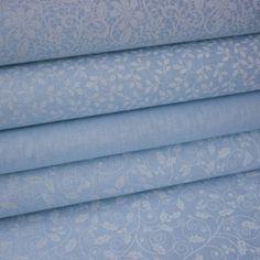 č.967 lístky bílé na modré