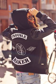"""We love a jacket that screams """"troublemaker""""."""