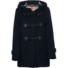 BURBERRY LONDON 'Mawdesley' duffle coat ($1,100) ❤ liked on Polyvore