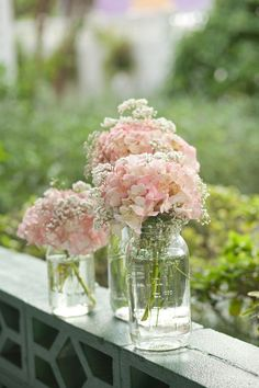 Hydrangeas and baby's breath?