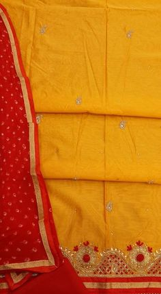 Lucknow Chikan Exclusif Sarabsons Shop No 101, Naveen Market, Kanpur. Designer Embroidered Suit Length 3 Piece Yellow Chanderi Cotton Rs. 2,850.00 only. Free Shipping. COD. Order on Call / Whatsapp +91-9918602101 or click to Buy Online