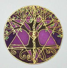 Mandala árbol de equilibrio árbol de la vida por HeavenOnEarthSilks