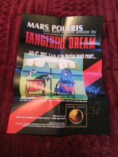 2000 Millennium Booster - Tangerine Dream - Only 300 Made/Signed - Mars Polaris #Electronica