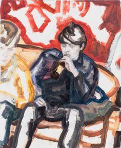 Elizabeth Peyton / Elias Bender Ronnenfelt, 2013, oil on canvas