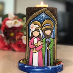 Clay Art Projects, Nativity Scenes, Belem, Holy Family, Christmas Nativity, Tole Painting, Christmas Inspiration, Candle Making, Christmas Projects