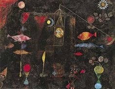 """Perfectly Chaotic """"Fish magic"""" by Paul Klee in PAUL KLEE Swiss painter, graphic artist, and art theorist, b. Kandinsky, Klimt, Statues, Paul Klee Art, Famous Artists, Art And Architecture, Oeuvre D'art, Art Images, Les Oeuvres"""