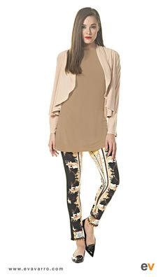 cb9eff22a91 Eva Varro | Short Round Double Cardigan $125.00 Eva Varro, Gold Pants, Easy  Wear