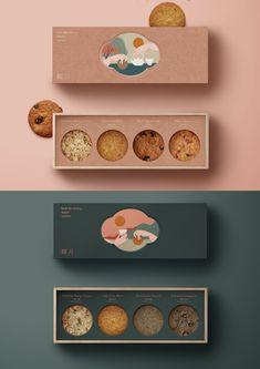 WWAVE DESIGN Baking Packaging, Cake Packaging, Food Packaging Design, Brand Packaging, Packaging Boxes, Mockup Design, Web Design, Packaging Inspiration, Illustration Inspiration
