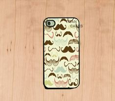 iphone 4 case - Multi Mustaches , Iphone