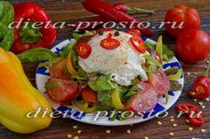 Салат с яйцом и помидорами. 2-4 этапы диеты Дюкана