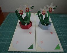 Cartão Pop Up Orquídea