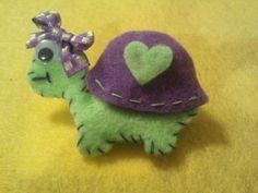 Turtle Felt Hair Clip - lilac shell- made by R De Leon