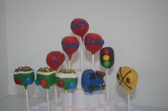 Choo Choo Look Who's Two Birthday Party. Train Cake Pops