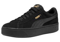 Damen PUMA Sneaker Vikky Stacked SD schwarz weiß   - Kategorie  Damen  SchuheSneakerSneaker LowSneaker Material 5baef551e2