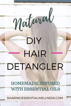 This easy, DIY hair styling detangler will naturally add smooth the texture of your hair. A homemade, eco-friendly styling product is simple to make and infused with the benefits essential oils! #essentialoilsrecipes #naturalhair #hairdetangler #DIYhaircare #naturalhairproducts #holistichealth #ecofriendlylifestyle #naturalbeautytips #DIYbeautytips #DIYstylingproducts #essentialoils #essentialoilbeauty #doterra