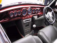 Classic Mini, Interior, Custom Red.