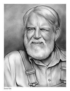 Denver Pyle - graphite pencil sketch by Greg Joens.  www.gregjoens.com