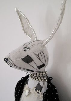 black and white hare ♥ Alice Mary Lynch