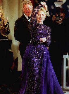 President Bill Clinton and Hillary Clinton at the Inaugural Ball!