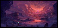 The Cave / Illustration by Boris Stoyanov Art Competitions, Cute Couple Art, Colossal Art, Speed Paint, Animation Background, Environment Design, Eye Art, Renaissance Art, Fantasy Art
