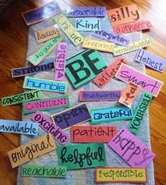 Beginning of the Year Theme - BE YOURSELF!! Love the words, and the idea of letting students think of a word to add! FREE printables!
