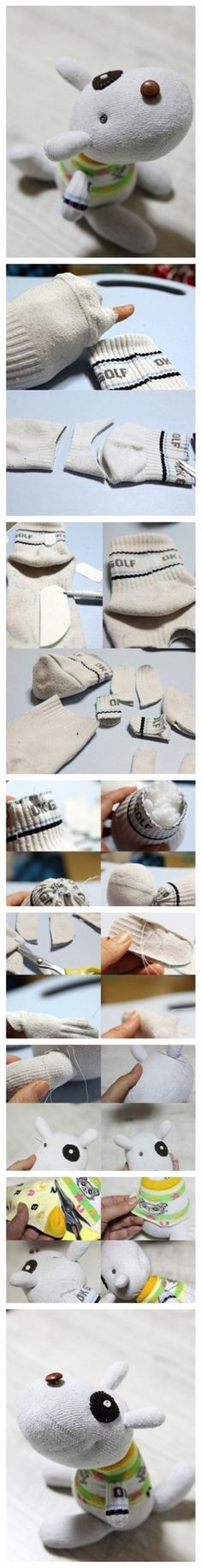 How To Make A Sock Dog - love this stuff.