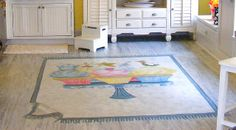 cupcake kitchen | Faux Rug in the Cupcake Kitchen | Flickr - Photo Sharing!
