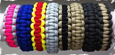 Sara---Paracord Survival Bracelets - Solid and Two Tone Colors - Design Your Own! at VeryJane.com