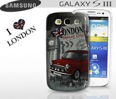 Coque Samsung galaxy-S3 I Love London  Ultra détaillée, la coque au motif de Londres.   Rigide, elle protègera efficacement votre smartphone tout en laissant ses fonctionnalités accessibles.