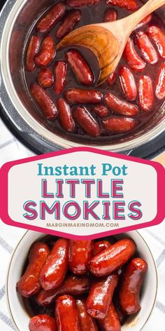 Need the perfect appetizer for a crowd? Whether it's game-day, a holiday, or any gathering, these Instant Pot little smokies are just the ticket! Use BBQ sauce (or heinz chili sauce) and grape jelly for a flavorful sauce. Cocktail Weenies, Cocktail Sausages, Instant Pot Pressure Cooker, Pressure Cooker Recipes, Heinz Chili Sauce, One Week Meal Plan, Hot Pepper Jelly, Appetizers For A Crowd, Grape Jelly